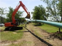 Connected pipelines for HDD. Directional drilling services, Oklahoma.